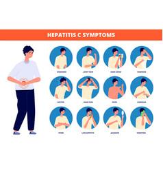 Hepatitis c symptoms cirrhosis treatment liver vector