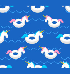 inflatable unicorn pattern magic beast toy for vector image