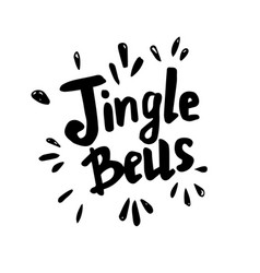 Jingle bells - freehand ink hand drawn vector