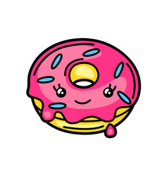 Kawaii donut vector