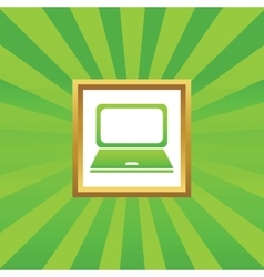 Laptop picture icon vector image