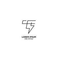 Letter t flash logo design vector