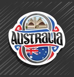 logo for australia vector image