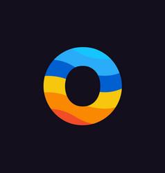 logo letter o colorful blue red orange vector image