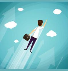 man with a briefcase vector image