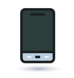 Mobile flat icon vector