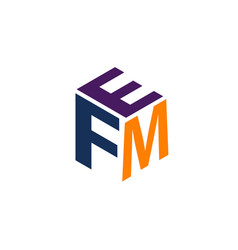 Modern logo solution letter wfm vector