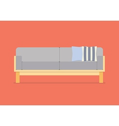 Modern sofa flat style vector image