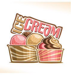 Natural ice cream vector