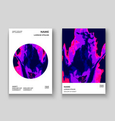 neon marble texture explosion paint splatter vector image