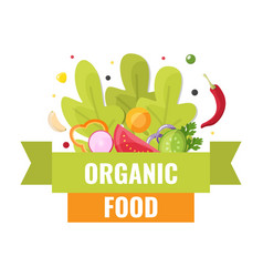 organic food banner natural farm vegetables and vector image