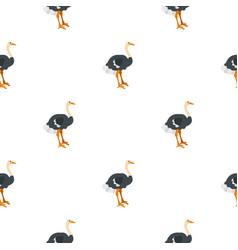 Ostrich pattern seamless vector