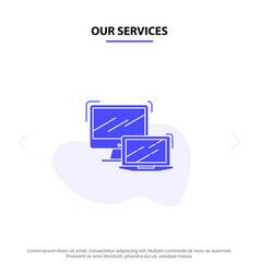 Our services computer business laptop macbook vector
