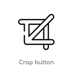 Outline crop button icon isolated black simple vector