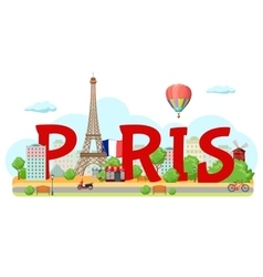 Paris City Sign Composition vector image