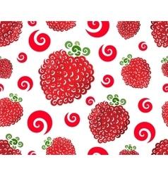 Raspberry swirl seamless vector