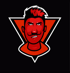 red face mascot vector image