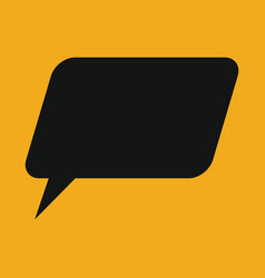 Retro converse speech bubble icon vector
