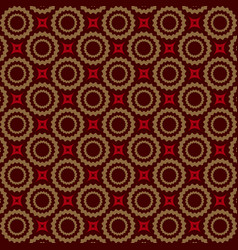 seamless luxury ornamental background red damask vector image