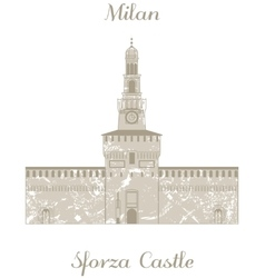 Sforza Castle vector