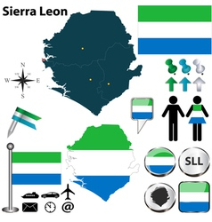Sierra Leon map vector image
