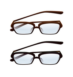 Spectacles with semitransparent lenses vector