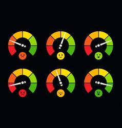 speedometer barometer fuel and petrol gauge logo vector image
