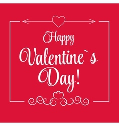St Valentine Days Greeting Card in Retro Style vector image