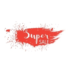 Super sale - hand lettering text vector image
