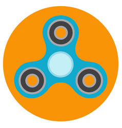 the blue hand-spinner is of classical shape vector image