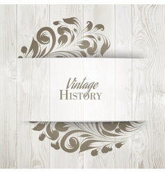 The vintage history card vector image