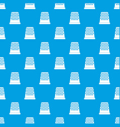 Thimble pattern seamless blue vector