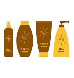 Tube sunscreen suntan oil cream after sun vector
