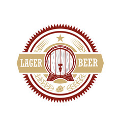 vintage beer label design elements for logo label vector image