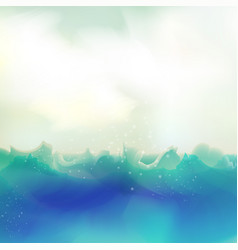 Watercolor ocean background graphic design vector