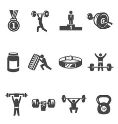 weightlifting bodybuilding heavy athletics bold vector image