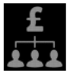 White halftone pound payment relations icon vector