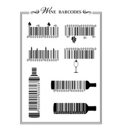 Wine barcodes vector