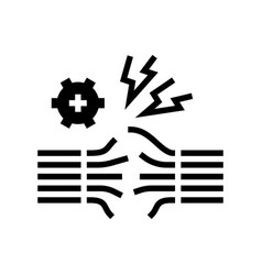 wire breakage glyph icon vector image