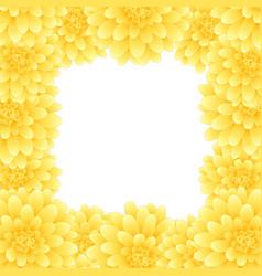 Yellow dahlia border style 2 vector