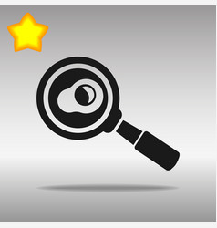 black frying pan with egg icon button logo symbol vector image