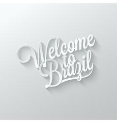 Brazil paper cut lettering background vector image