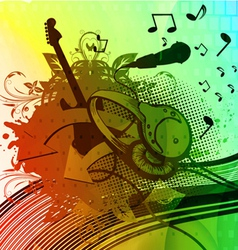 colorful grunge concert poster vector image