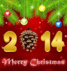 cone 2014 pine vector image vector image