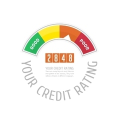 Credit counter with text vector