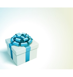 Gift box with bow and light vector image vector image