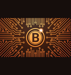 golden bitcoin digital currency web money concept vector image