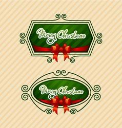 Merry christmas creative label vector