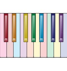 Rainbow piano keyboard vector image