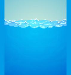 underwater background sea or ocean water vector image vector image